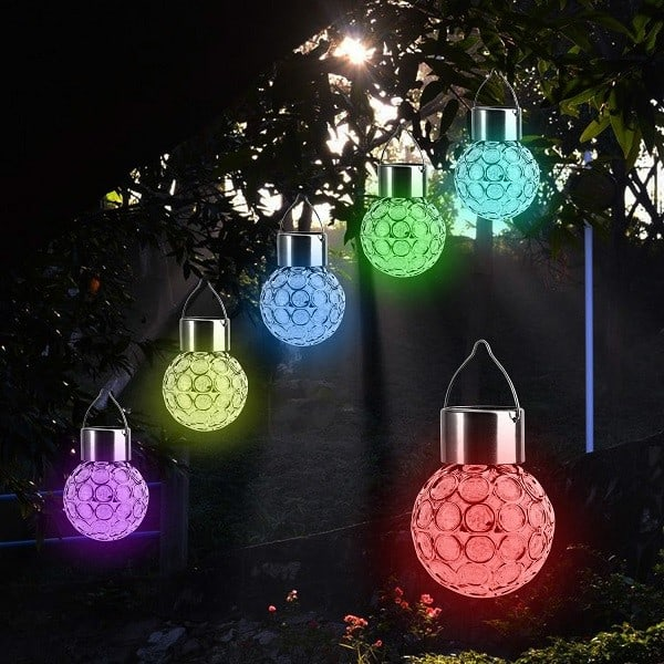 Hanging Solar Lights for Trees - Color Changing Solar Hanging Lights