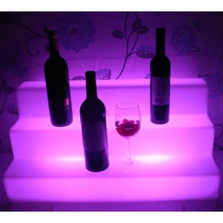 2ft 3Tier LED Lighted Liquor Bottle Shelves Bar Display