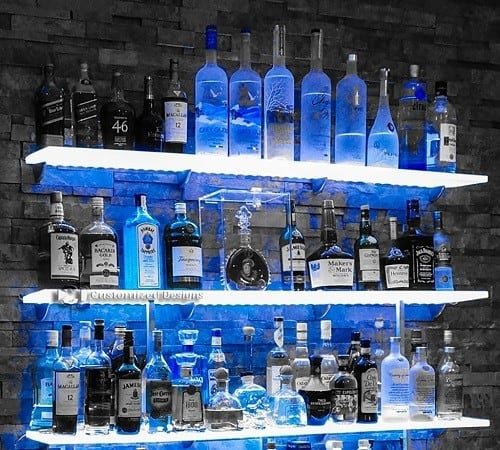 LED Lighted Floating Bar Shelf