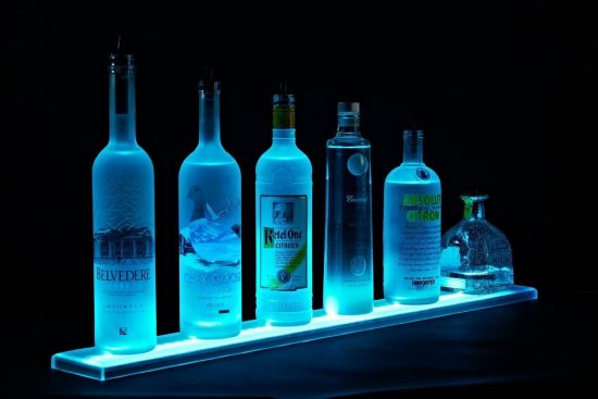 LED Liquor Shelf and Bottle Display by Armana Productions