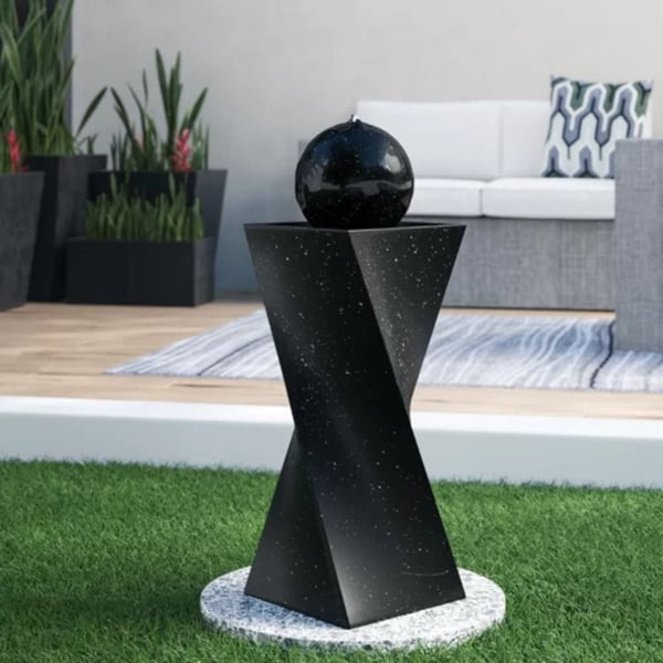 Solar Ball Fountain with LED Light | Solar Powered Water Fountains