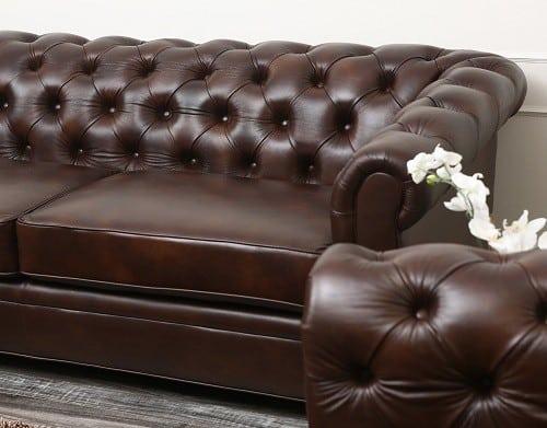 Premium leather Chesterfield sofa