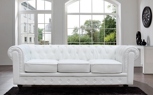 White Leather Chesterfield Sofa | Leather Chesterfield Sofas