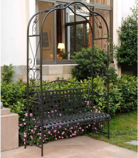Wrought Iron Garden Bench | Wrought Iron Outdoor Furniture