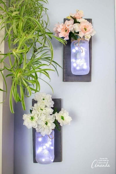 DIY Mason Jar Wall Sconces