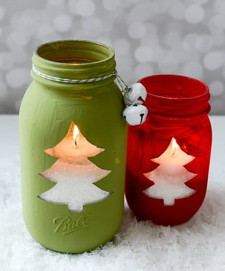 Christmas Tree Mason Jar Lights