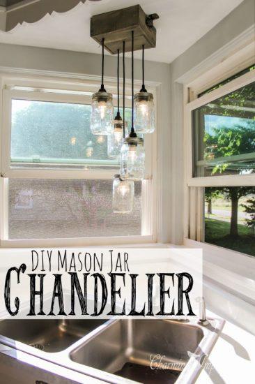 Stunning DIY Mason Chandelier
