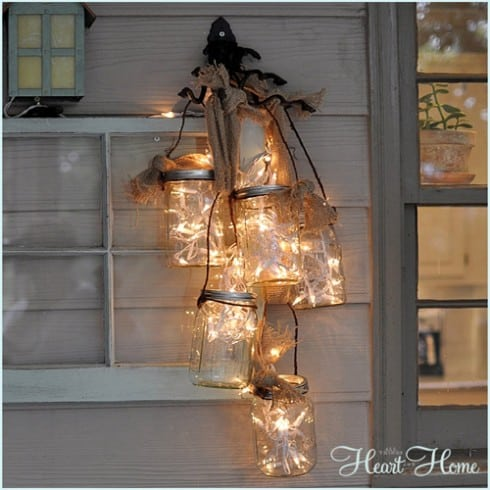 This mason jar light will look great on a covered porch!