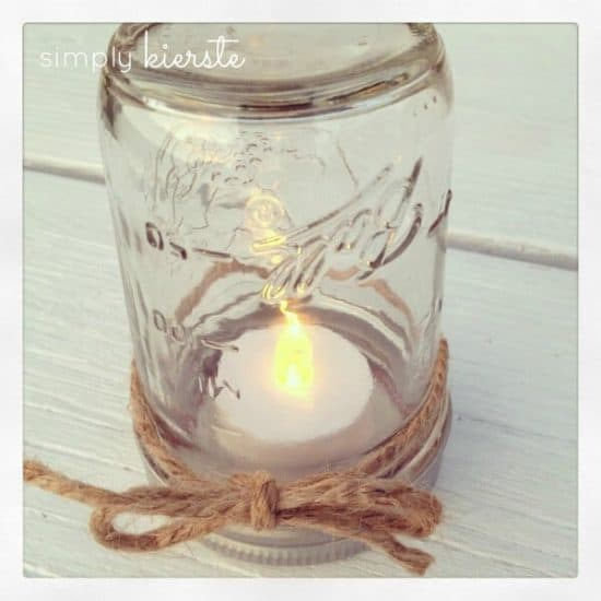 Mason Jar Table Lantern DIY - These lanterns are beautiful and safe to use! Great for weddings, parties and table decor!