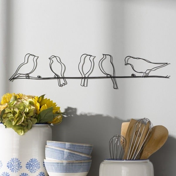 Birds On A Wire Metal Wall Decor #WallArt #WallDecor