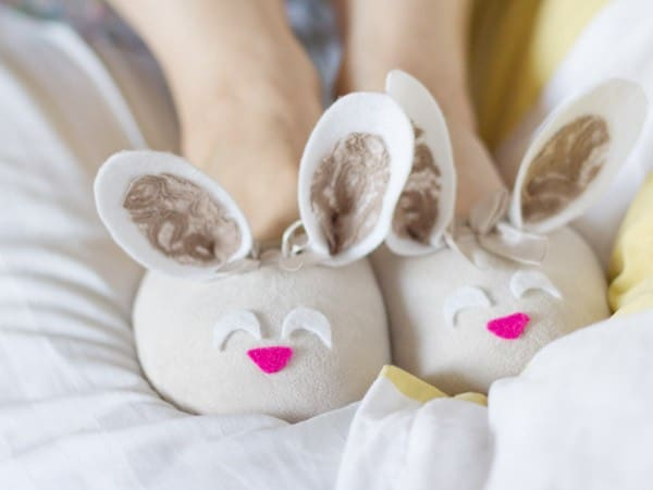 DIY Bunny Slippers #EasterCrafts