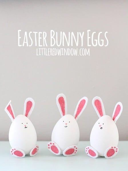 Easter Bunny Eggs #Easter CraftsForKids #EasterCrafts