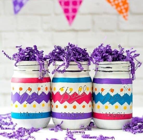 Easter Egg Mason Jar Craft - Easter Mason Jar crafts