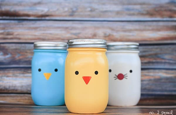Easter Mason Jar Crafts - mason jar easter crafts #eastercrafts