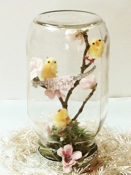 Easter Mason Jar Crafts - Spring Mason jar craft