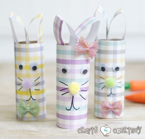 Toilet Paper Roll Easter Rabbits