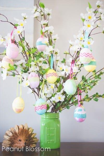 Easter egg tree #EasterDecor #EasterTree