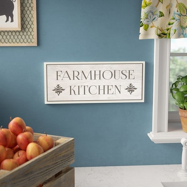 Farmhouse Kitchen sign - Farmhouse Kitchen Wall Decor | This will look great above a doorway #farmhousekitchendecor #farmhousedecor