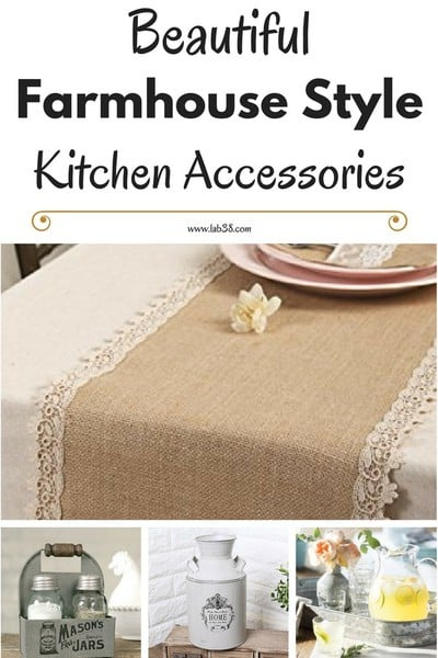 Add Farmhouse Style To Your Home with these Farmhouse Style Kitchen Accessories #FarmhouseStyle