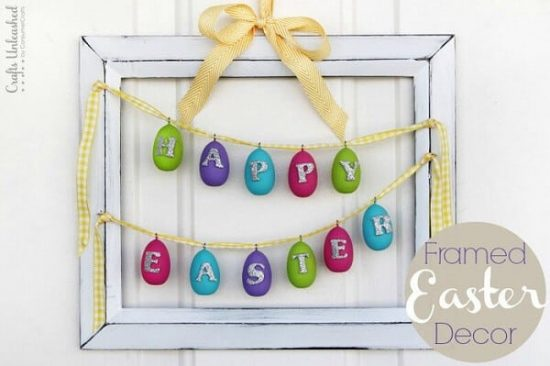 "Framed ""Happy Easter"" Egg Banner"