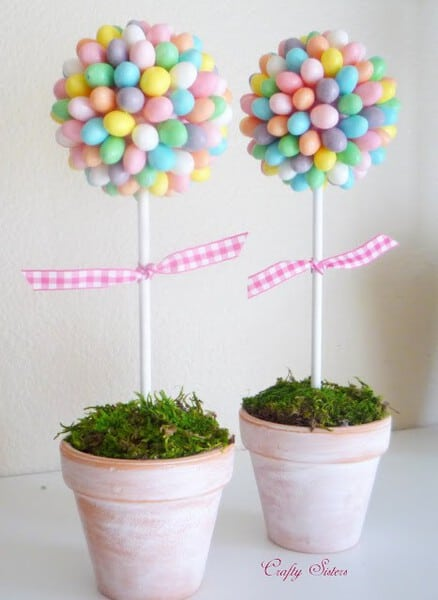Jelly Bean Topiary | DIY Easter Decorations Ideas