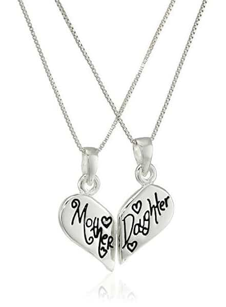 Mother Daughter Broken Heart Necklace with Inscription ▪ Mother Daughter Friends Forever ▪ #mothersday #giftformoms