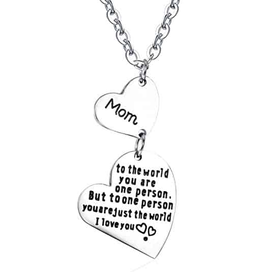 ❤ Mother of the World Necklace Engraved with Mom to the world you are one person, but to one person you are just the world ❤