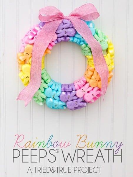 Rainbow Bunny Wreath