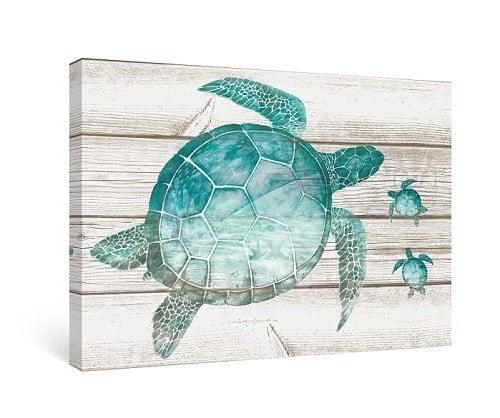 Sea Turtle Wall Decor in gorgeous aqua blue colors