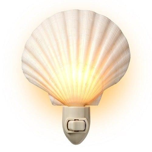 Seashell Night Light - Made from real seashell - Perfect for any beach themed decor!