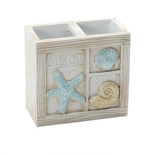 Seashell Toothbrush Holder - Beach Themed Bathroom Accessories